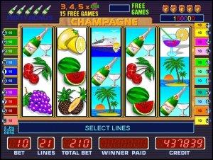 Автомат Champagne в казино Азино. Открывайте бутылку